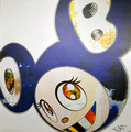 And then 3000 - And then x6 blue by Takashi Murakami