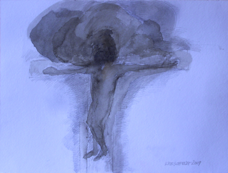 clouds with crucifixion by Ricardo Hirschfeldt