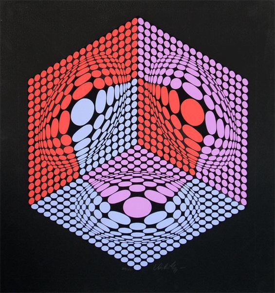 Composition Cinetique Original Art by Victor Vasarely    PicassoMio