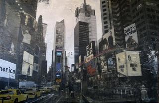 New York from inside the mirror by raúl lara naranjo