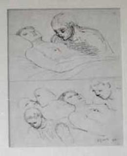 Figure Studies by Henry Moore