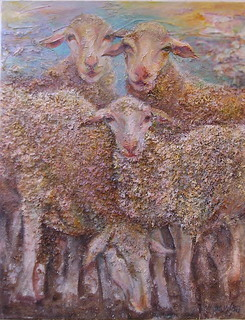 Sheep's family by Sylva Zalmanson