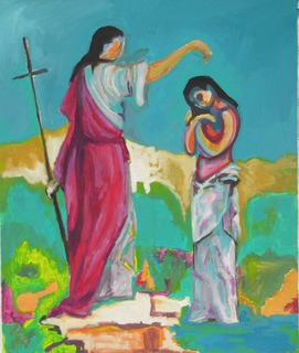 BAPTISM OF JESUS by Raquel Sara Sarangello