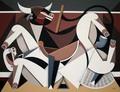 Bull and Horse by RAFA CHEVIRA