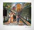 La Rue Norvins à Montmartre de Maurice Utrillo