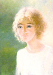 The girl in a white blouse by Sylva Zalmanson