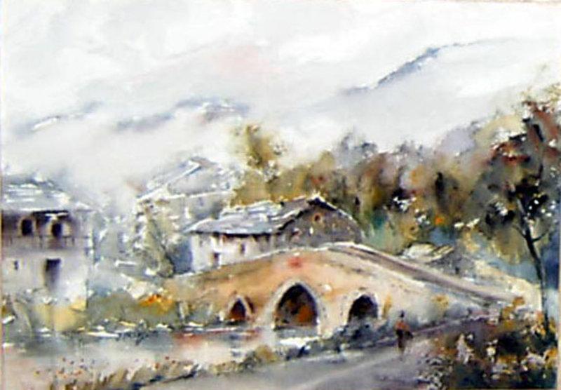 Paisaje con puente 2 de Juan Félix Campos :: PicassoMio