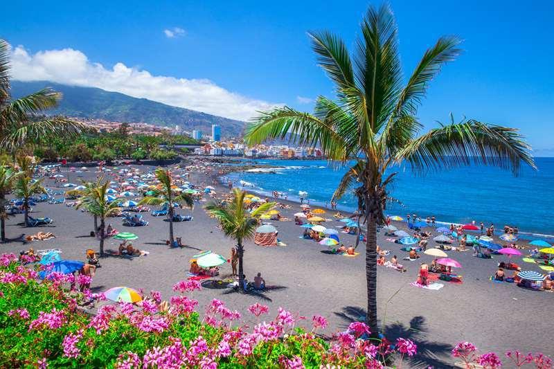 Jardin beach in puerto de la cruz 2 original art by atman - Playa jardin puerto de la cruz tenerife ...
