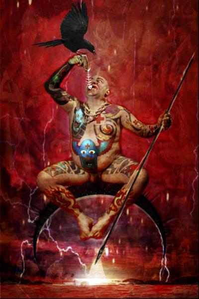 Mouth of Hell/Franko B. by Hector de Gregorio