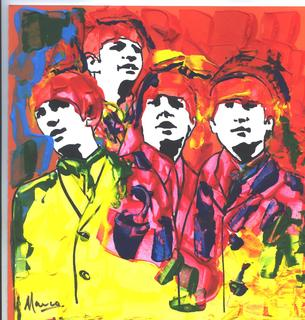 The Beatles #3 Pop Art Painting by Marco Mark