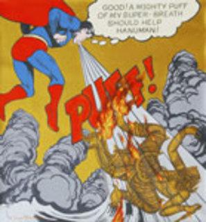 Puff!  (Superman after A. Warhol) by Jirapat Tatsanasomboon