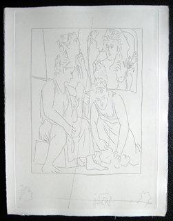 Les Filles de Minyas refusent de reconnaitre le dieu Bacchus by Pablo Picasso