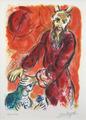 """Marc Chagall - """"Exodus: Puis Amalek Vint et il Combattit avec Israël à Réphidim"""" (Mourlot 456) by Marc Chagall"""