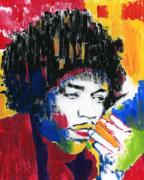 Jimi Hendrix by Marco Mark