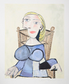 Femme Blonde au Fauteuil d' Osier by Picasso Estate Collection