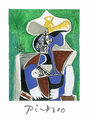 Blue, Green & Brown by Pablo Picasso