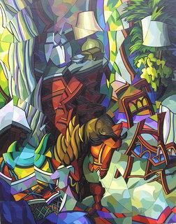 interior con caballo de madera by José Sanz Sala