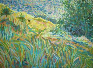 Grassland summer time landscape by Inga Erina