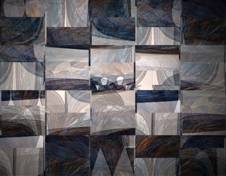 Mosaic figures by Brandan