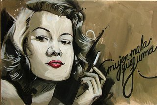 "SMOKING BAD WOMAN by Carlos Cenoz Bermejo ""Dino"""
