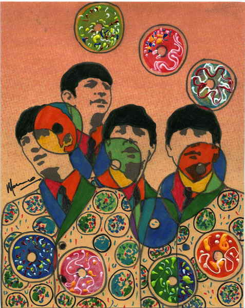 The Beatles moments series 6 - Donuts Original Art by Marco Mark ...