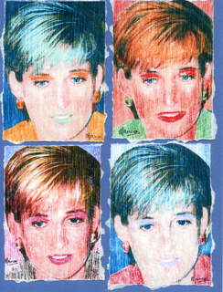 Princess Diana x 4 by Marco Mark