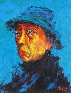 Portrait a old man by Tran Tuan