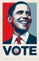Shepard Fairey OBEY GIANT, Vote Obama, 2008 by Shepard Fairey