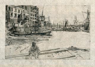 Eagle Wharf by James Abbott Mc Niel Whistler