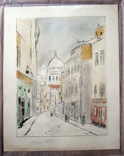 Rue a Paris by Maurice Utrillo