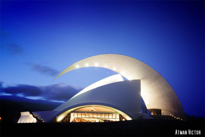 Music Hall Adán Martín (front view) by Jose Luis Mendez Fernandez