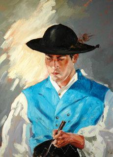 blue vest by Francisco Sutil