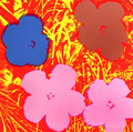 Flowers X by Andy Warhol