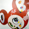 And then 3000 - And Then x6 red by Takashi Murakami