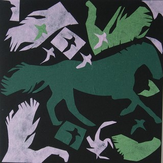 My Horse for Franz Marc - framed by Mania Row
