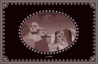 """United States of America """"The Presidents"""" banner (size XXXXL) by PACHI"""