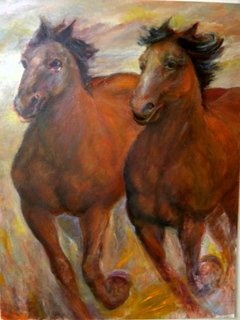 Running horses by Sylva Zalmanson