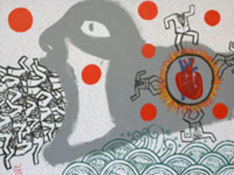 Fiery Heart by Vasan Sitthiket