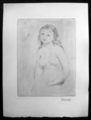 Study for a woman bathing by Pierre Auguste Renoir