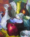 Vasijas con olla en rojo by José Sanz Sala