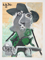 Portrait d' Homme au Chapeau by Picasso Estate Collection