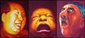 CRY Triptych by Tran Tuan