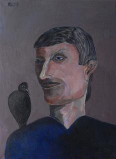 Man with raven by Ricardo Hirschfeldt