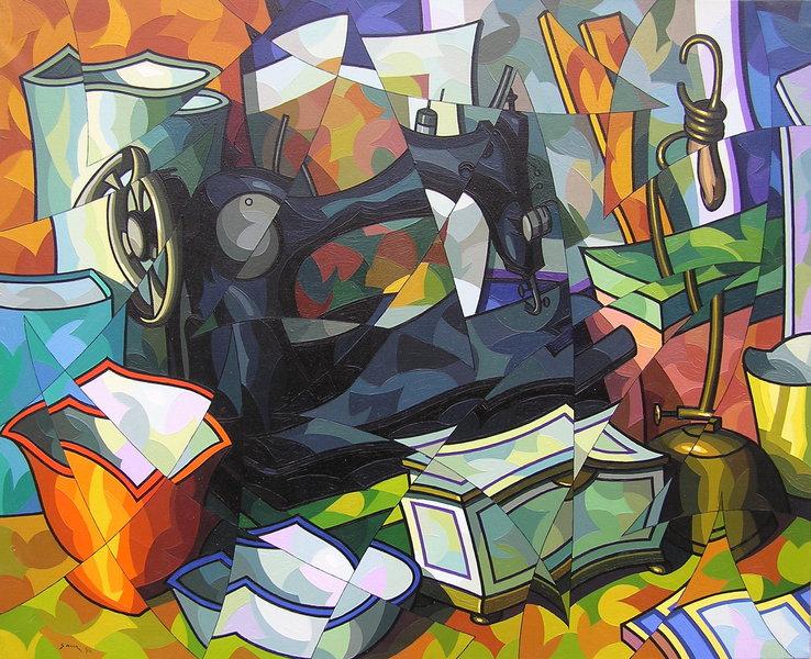 Composicion con maquina de coser by José Sanz Sala
