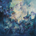 Without scales, oil on canvas, signed by Lidia Solanot