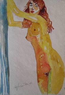 Antonia - standing. by Roger Cummiskey