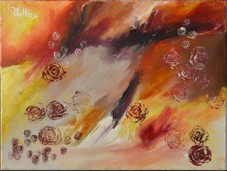 The garden of roses 12 reproducción by Rosario de Mattos