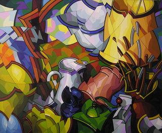 Composicion con objetos y vasijas by José Sanz Sala