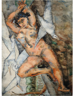 Nude with gull by PEDRO NEL GOMEZ AGUDELO