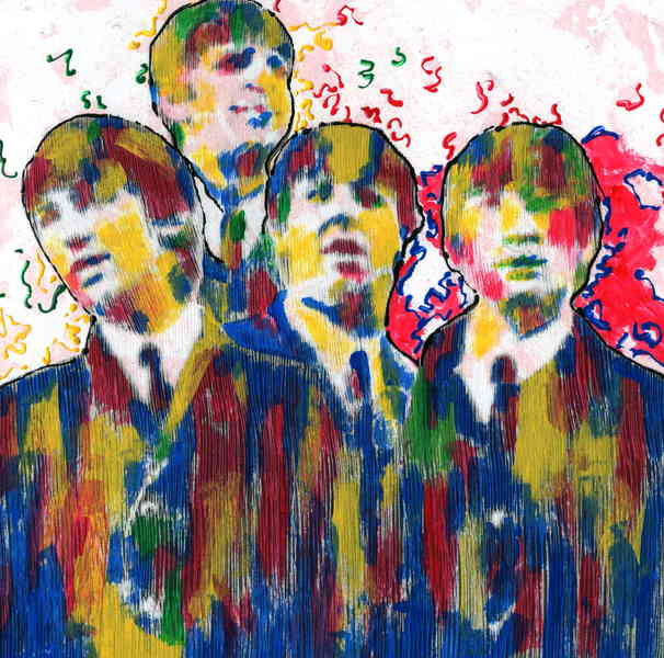 The Beatles moments series 18 - finger painting by Marco Mark